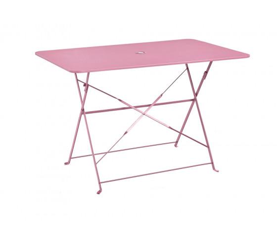 Table de jardin pliante VENISE - Rose