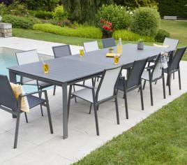 Table de jardin extensible SEYCHELLES - 12P