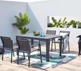 Table de jardin extensible NÎMES - 8P