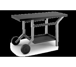 Table roulante acier noir et gris clair pour planchas - Forge Adour
